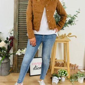 giacca jeans corta